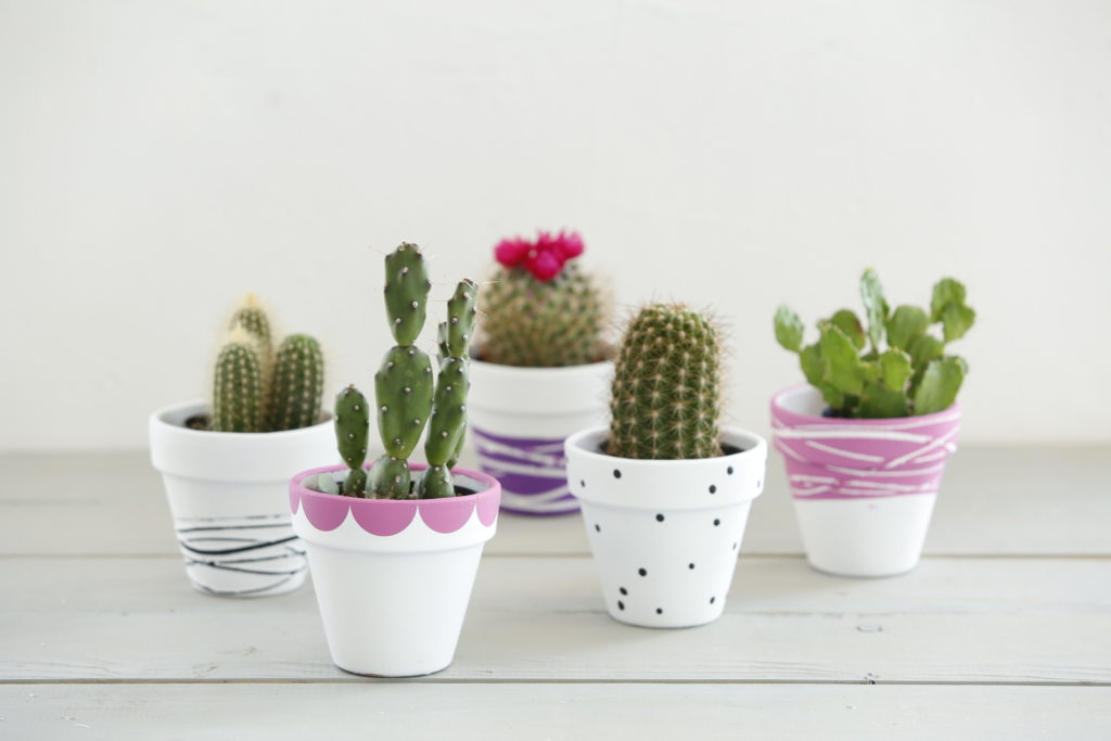 DIY Decorated Terra Cotta Pots