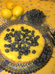 lemon blueberry tarte